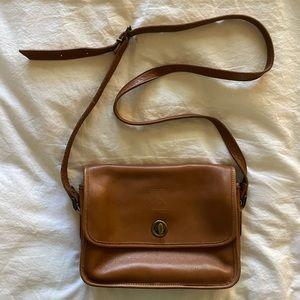 Vintage Leather Brown Coach Dupe Bag
